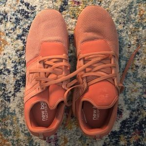 Orange New Balance Sneakers